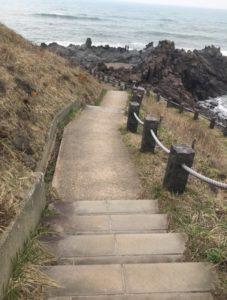 十六羅漢岩へ行く石段