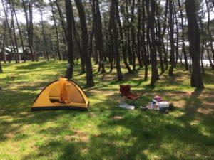 常連さんのテント