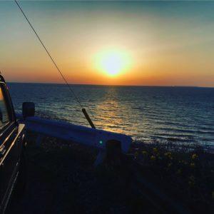 南光坊坂の夕日