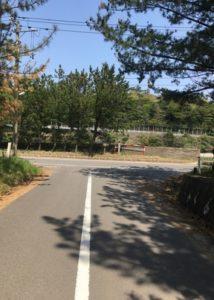 西浜キャンプ場道路丁字路