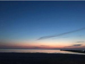 西浜海岸夕暮れ時1