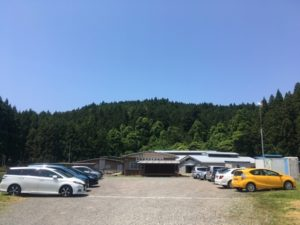 箕輪鮭ふ化場 駐車場