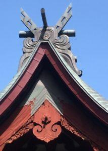 月山神社本殿の屋根装飾