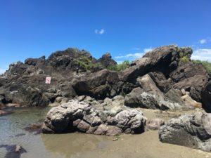 釜磯海岸岩場