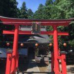 熊野神社の赤い鳥居
