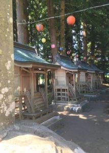 熊野神社の4つの小さい神社
