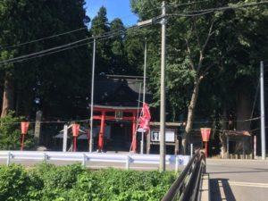 熊野橋から見える熊野神社
