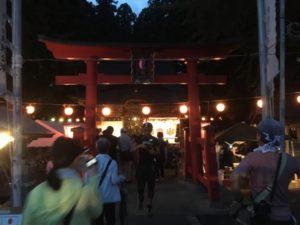 熊野神社 杉沢比山番楽始まる前