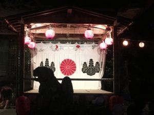 杉沢比山番楽の舞台