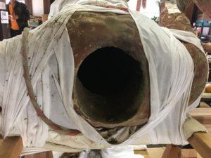 竜頭寺の仁王さまの体の中
