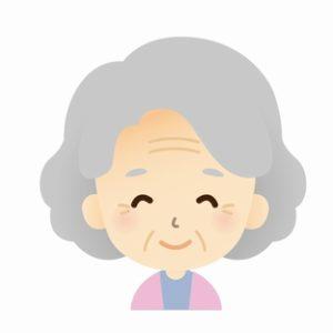 高齢の母の笑顔
