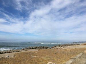 青塚海岸から北の方を見つめて