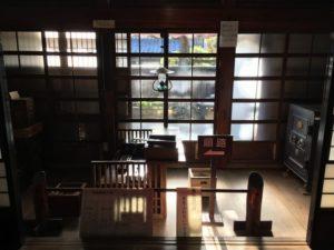 旧青山本邸の帳場